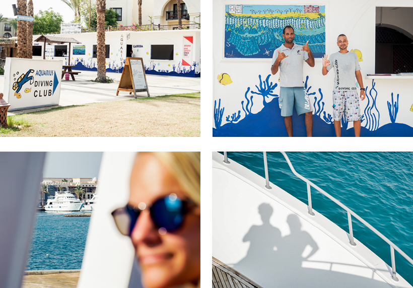 "Tauchschule ""Aquarius"" vor Ort / Eindrücke vom Bootsausflug mit Aquarius nach Marsa Mubarak"
