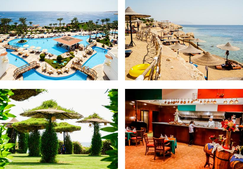 Die Anlage des Siva Sharm Resorts & Spa
