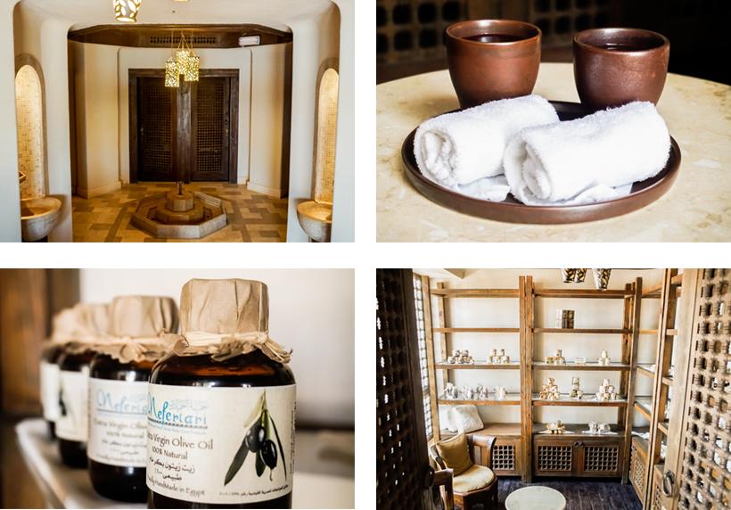 Eingangsbereich des Red Sea Spas und die qualitative hochwertigen Produkte