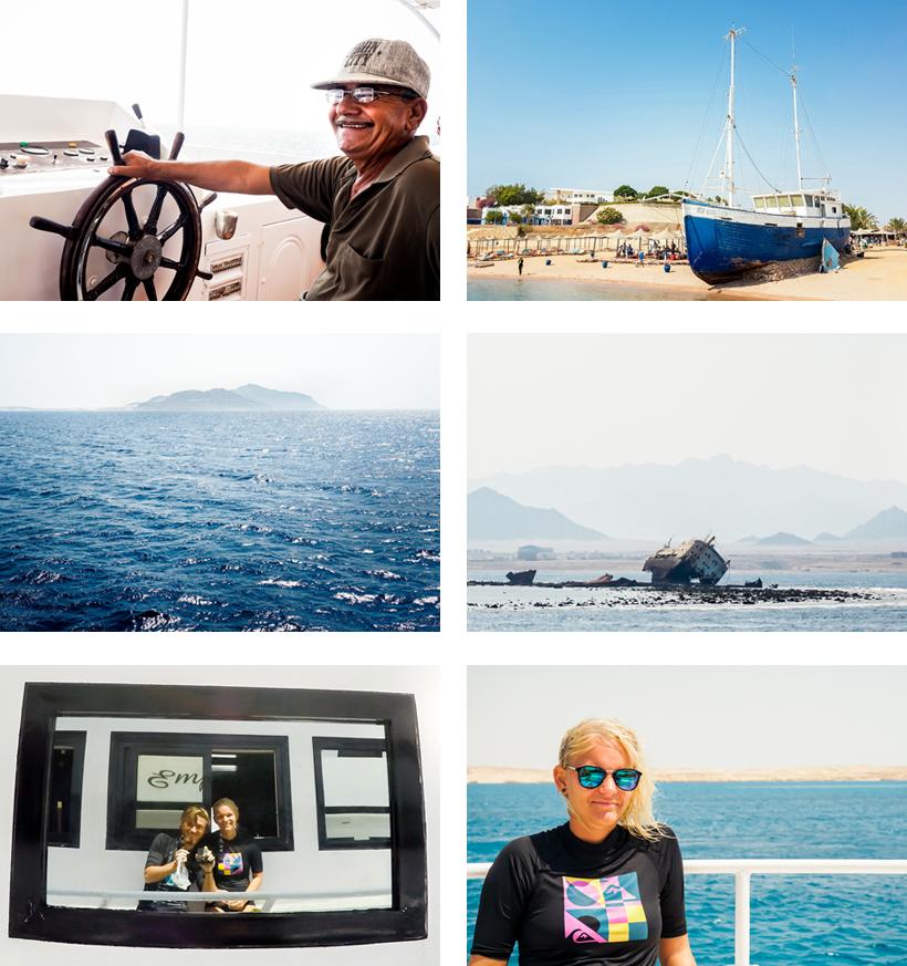 Mitten im Ausflug Richtung Insel Tiran