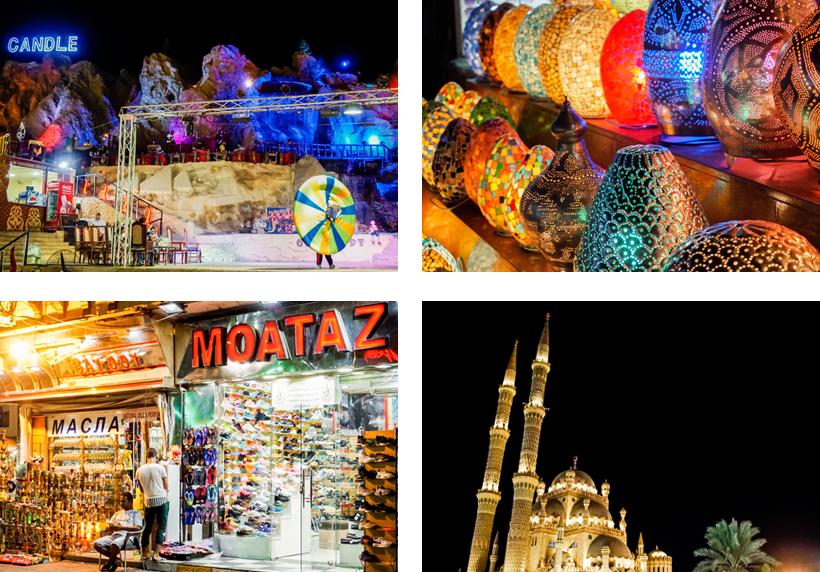 Orientalische Show, Geschäfte und Moschee am Old Market