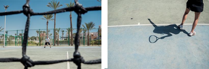 Tennis ist eines der vielen Sportangebote in Port Ghalib