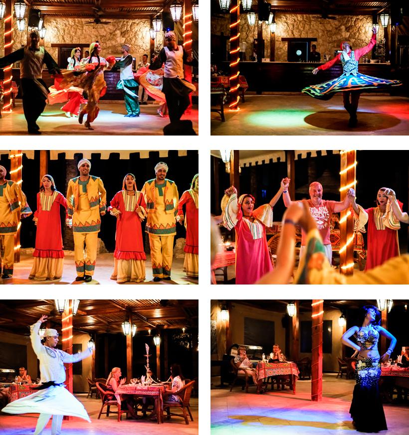 Für Unterhaltung sorgten eine Folklore-Tanzgruppe, ein Derwischtänzer und eine Bauchtänzerin