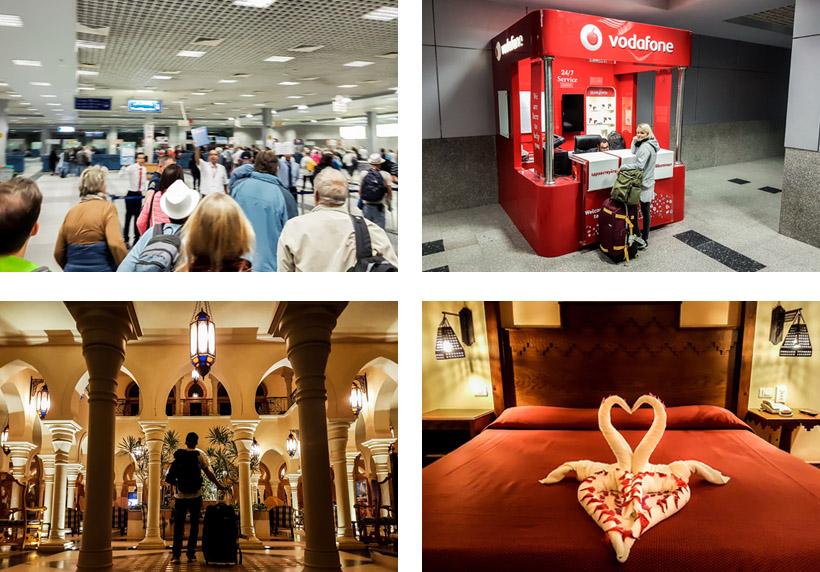 Ankunft & SIM-Karte aufladen am Flughafen / Eintreffen im Grand Makadi