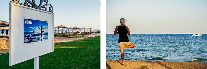 Yoga mit Ausblick am Strand