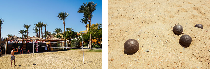 Beachvolleyball & Boccia am Strand in der Makadi Bay