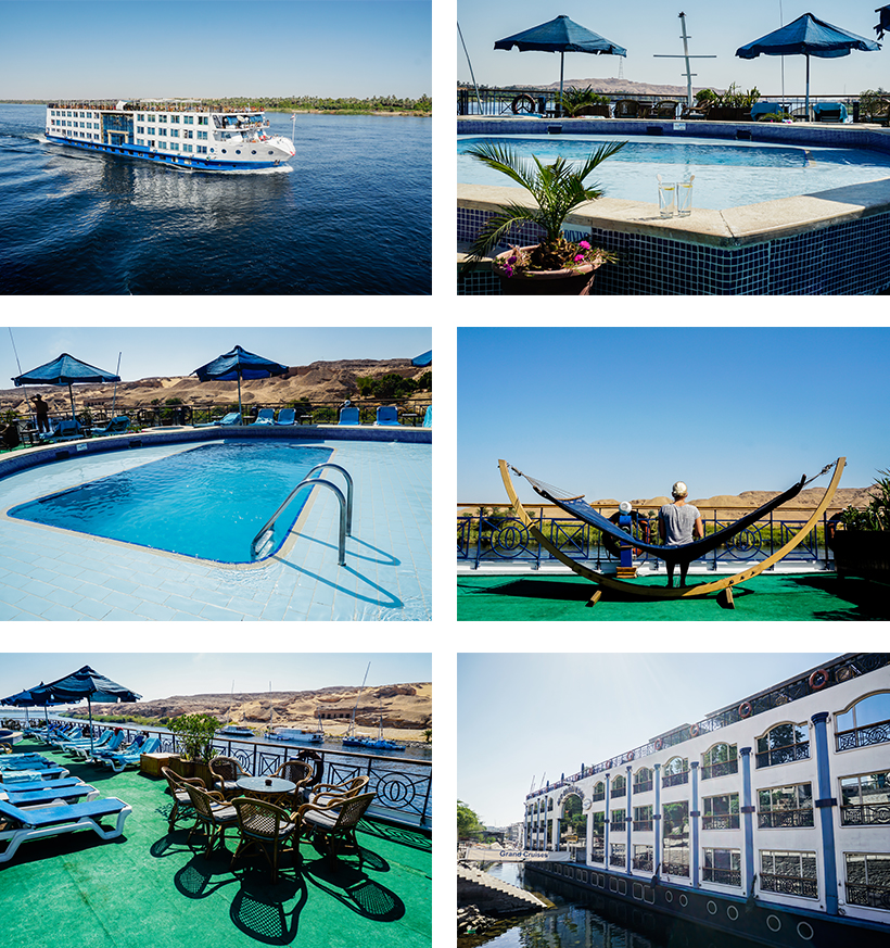 Relaxen am Sonnendeck inkl. Pool an Bord der Grand Cruises