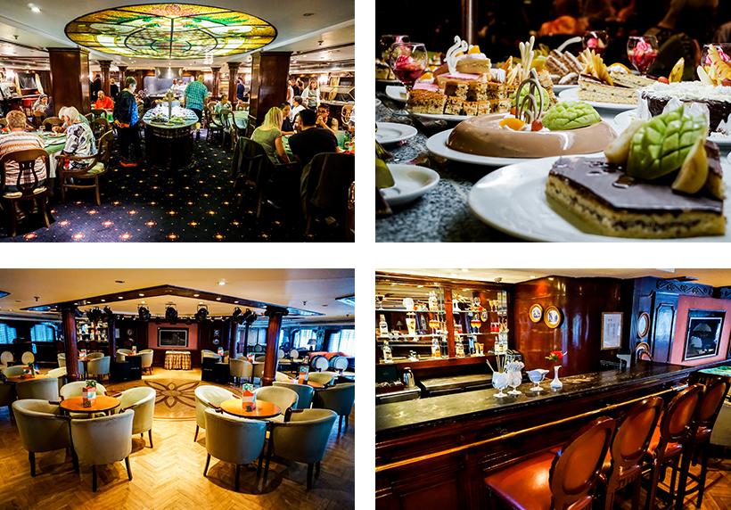 Restaurants & Bars sorgen für die All-inclusive Verpflegung am Schiff
