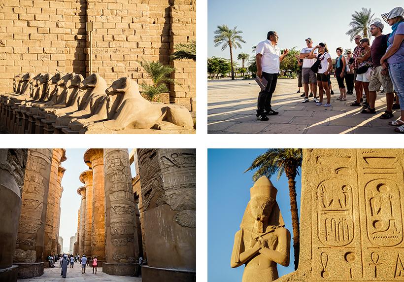 Eindrücke von der riesigen Karnak Tempelanlage