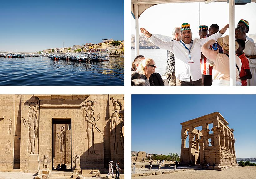 Überfahrt mit dem Boot zum Philae Tempel auf der Insel Agilkia