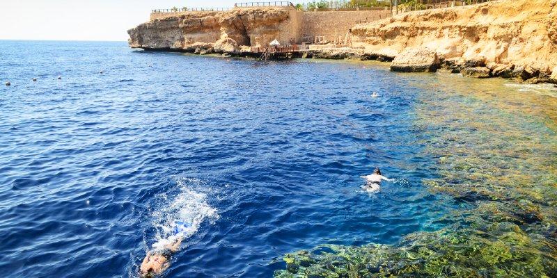 Die Baderegion Sharm El Sheikh in Ägypten
