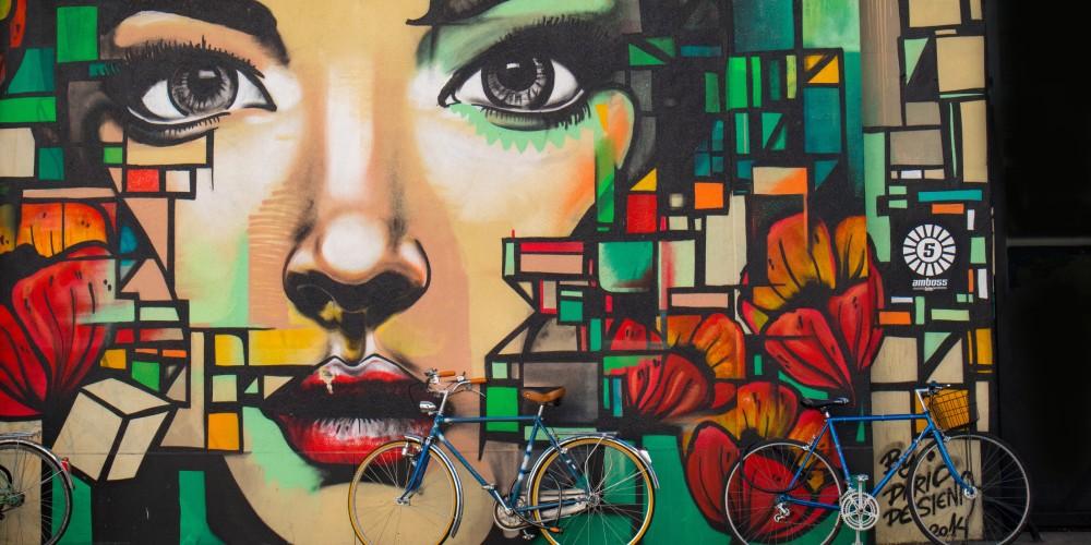 Straßenkunst in Barcelona