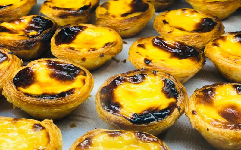 Die bekannte Süßspeise Pastel de Nata in Lissabon
