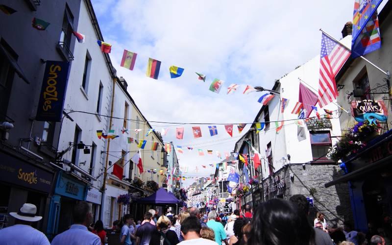 Die Innestadt von Galway rund um High Street