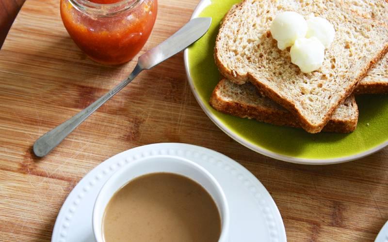 Frühstück in unserem B & B