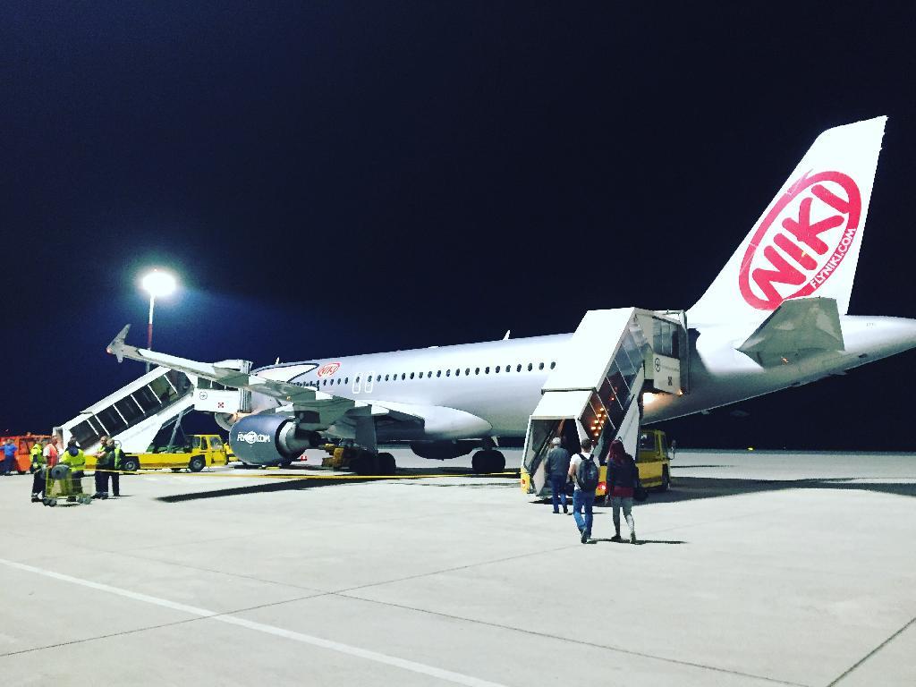 Abflug mit FlyNiki von Linz